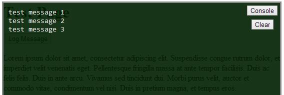 Captura de pantalla de ConsoleJS