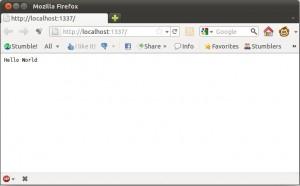 Firefox con el ejemplo de node.js